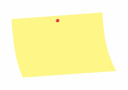 Illustration of a yellow post-it on white background Illustration
