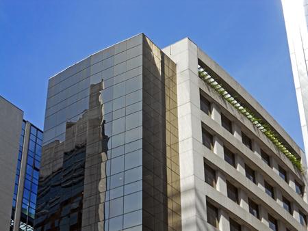 Modern corporate building in Sao Paulo south zone, Brazil