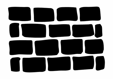 Hand-drawn style illustration of a brick wall Illustration