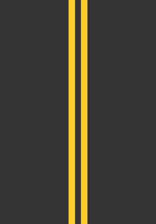 Illustration of a stretch of road with continuous double stripes