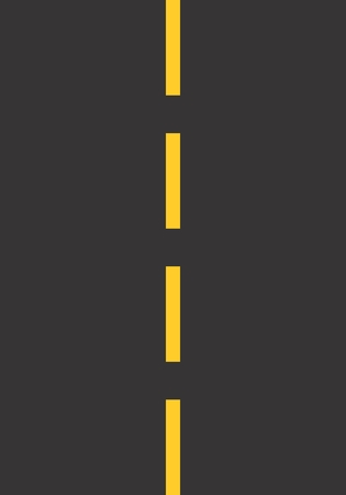 Illustration of a stretch of road with dashed stripe