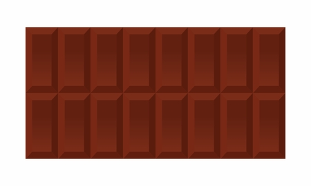 Illustration of an isolated chocolate bar on white background