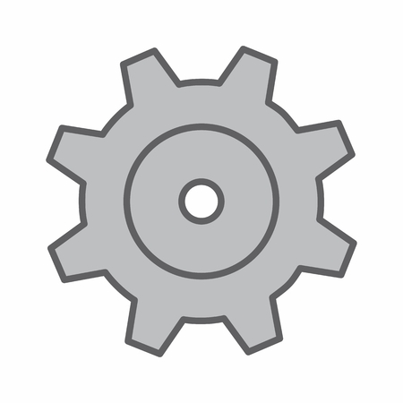 Illustration of an isolated gear on white background