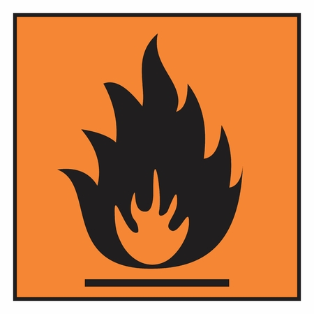 Illustration of an isolated flammable hazard symbol