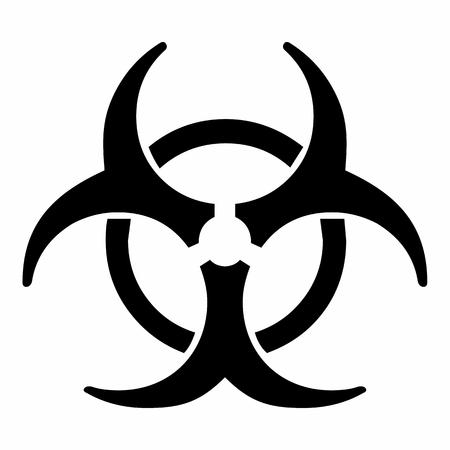 La ilustración de un símbolo de riesgo biológico aislado