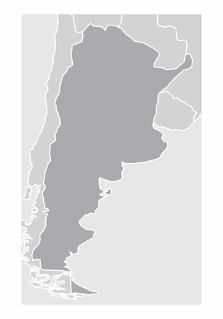 A simplified map of Argentina in the South America