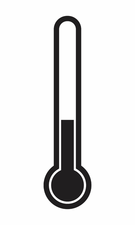Illustration of a thermometer icon on white background Stock Illustratie