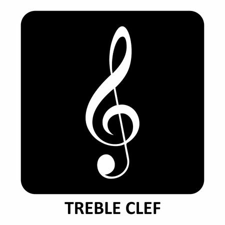 Treble Clef illustration Vetores