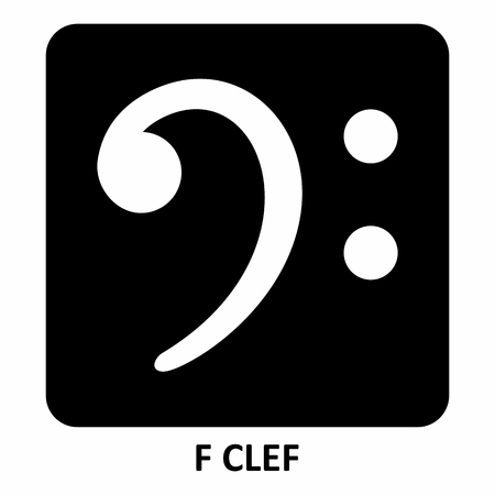 The black and white F Clef illustration