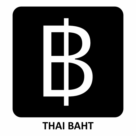 The illustration of the Thai Baht currency symbol