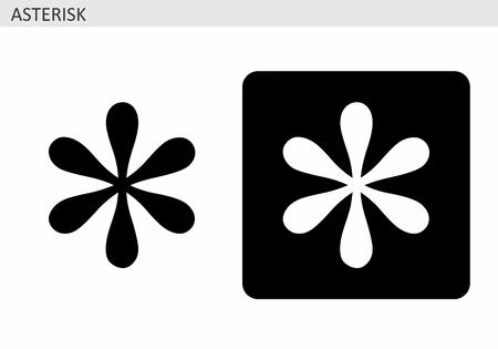Asterisk symbol illustrations Ilustração