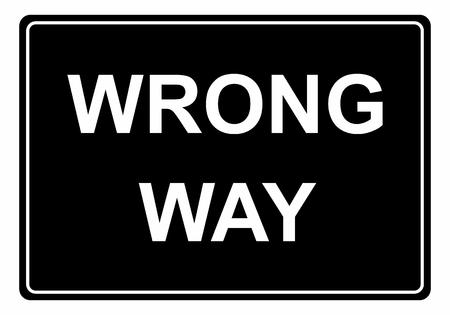 Illustration of a Wrong way traffic sign Ilustração
