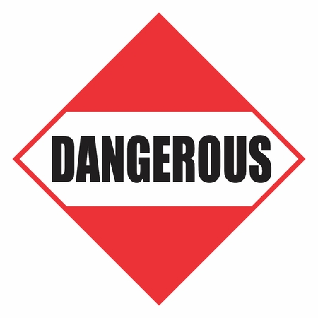 Dangerous sign. Blank dangerous sign in red illustration. Vectores