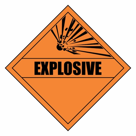 The Explosion hazard warning sign. Colorful illustration.
