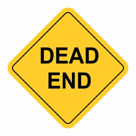 The Dead End Road Sign. Colorful illustration.