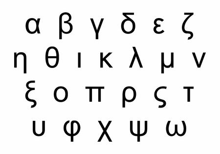 Greek alphabet letters