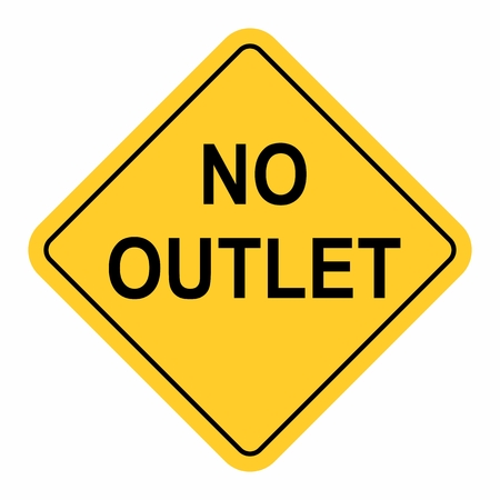 No Outlet Sign isolated on a white background