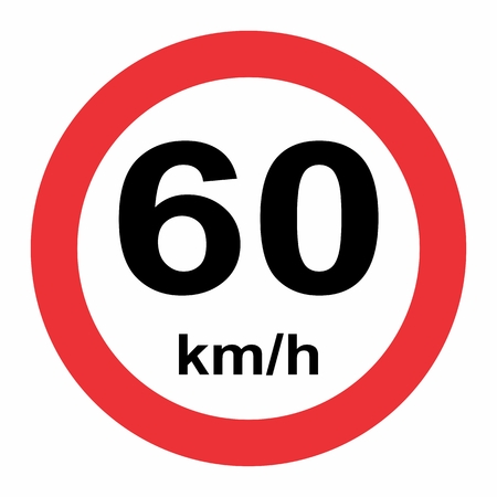 Speed limit traffic sign 60 Banque d'images - 120766803