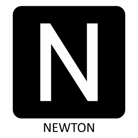 Newton force symbol