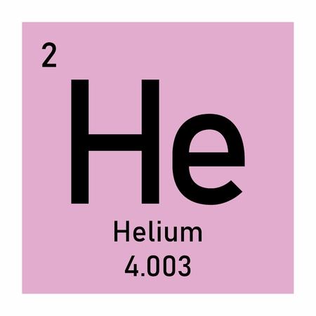 Helium Symbol Illustration Icon On White Background