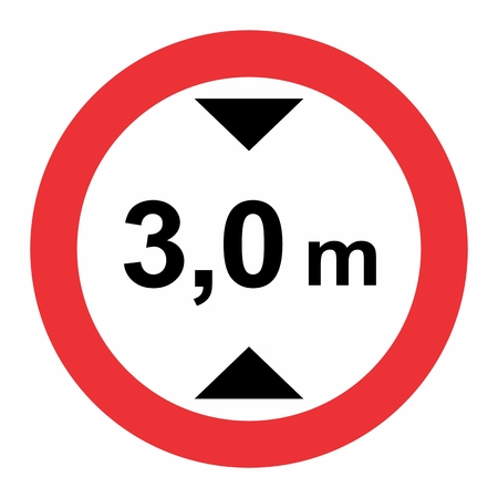 Illustration of Maximum height traffic sign on white background