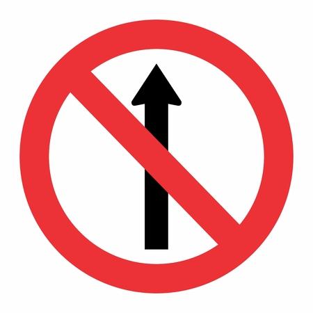 Illustration of Prohibited way traffic sign on white background