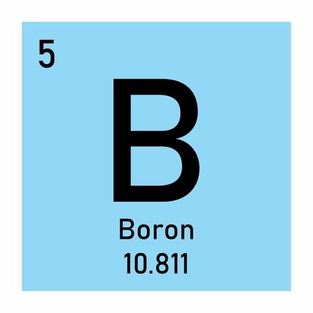 Periodic table element Boron icon on white background