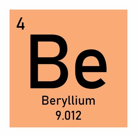 Beryllium icon illustration