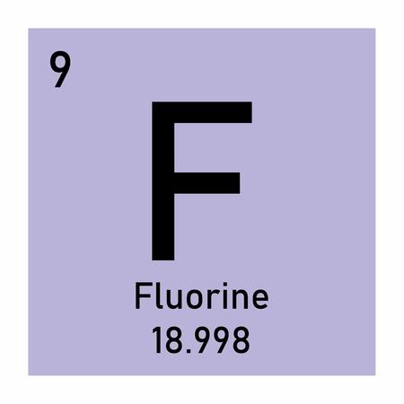 Fluorine chemical element Ilustração