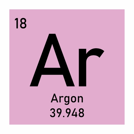 Periodic table element Argon icon