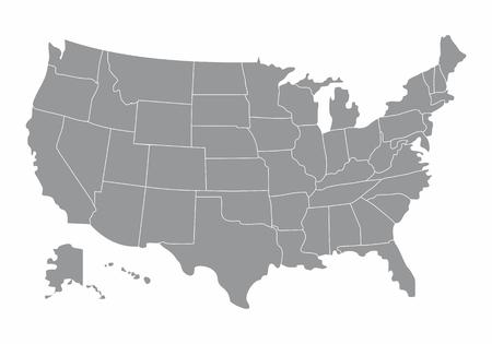 USA map illustration Ilustrace