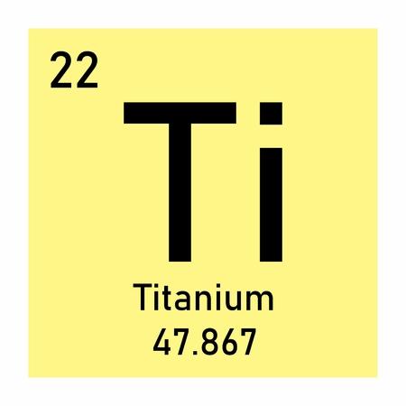 Periodic table element Titanium Ilustração