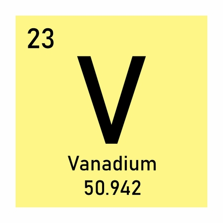 Periodic table element Vanadium Banco de Imagens - 124644919