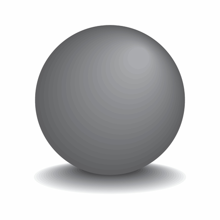 Illustration of a Gray metal sphere isolated on white background