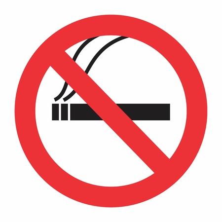 Illustration of No smoking sign on white background