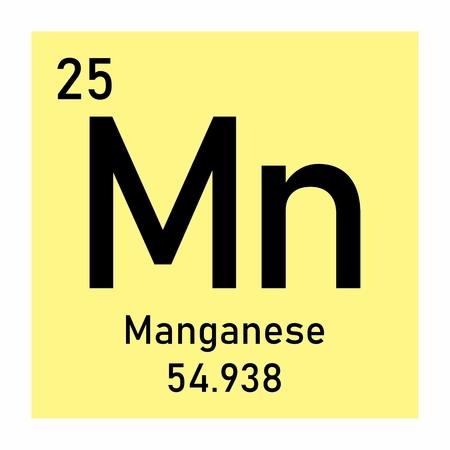 Periodic table element Manganese icon on white background Vektoros illusztráció