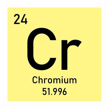 Periodic table element Chromium icon on white background