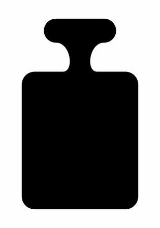 Weight dark silhouette isolated on white background
