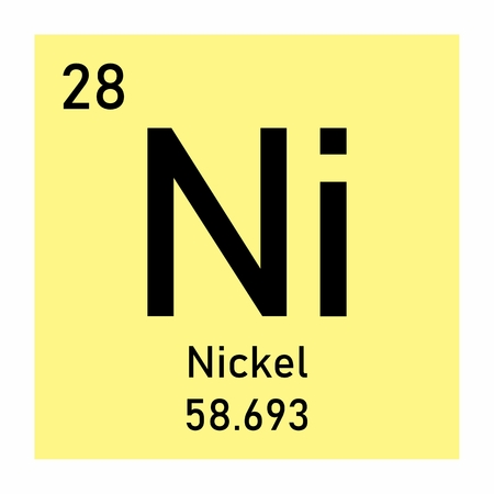 Periodic table element Nickel icon on white background