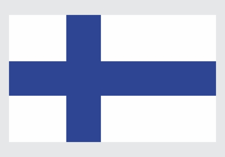 The illustration of an isolated Finland national flag