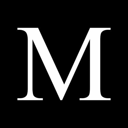 The Mu greek sign on dark background