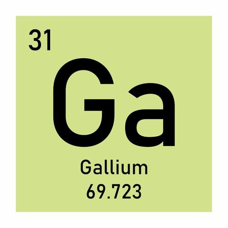 Illustration of the Gallium chemical element icon Banco de Imagens - 124645654