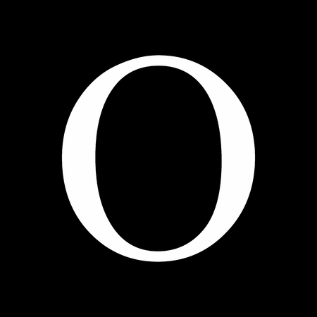 Omicron greek sign