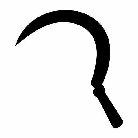 Sickle dark silhouette Illusztráció