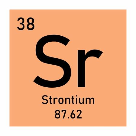 Illustration of the periodic table Strontium chemical symbol