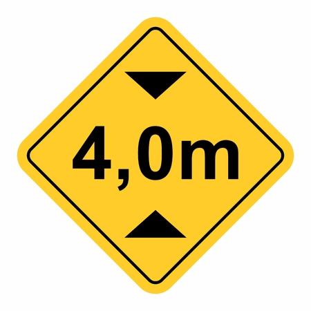 Maximum height traffic sign