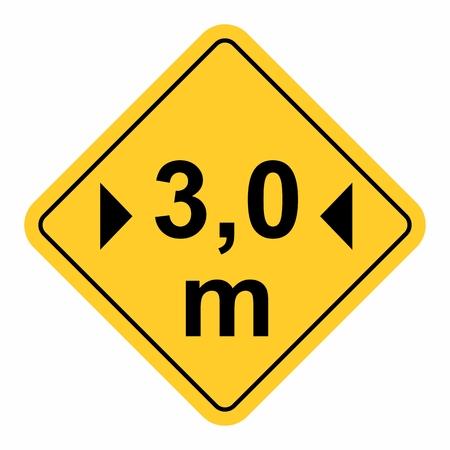 Maximum width traffic sign Illustration