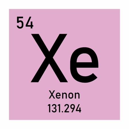 Xenon chemical symbol