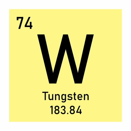 Tungsten chemical symbol