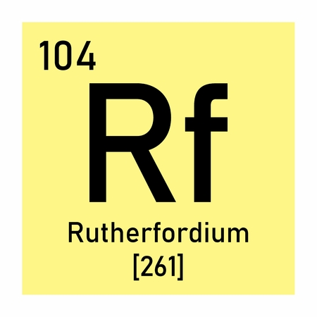 Illustration of the periodic table Rutherfordium chemical symbol Banco de Imagens - 124719541